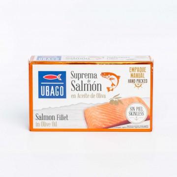 Suprema de salmón en aceite...