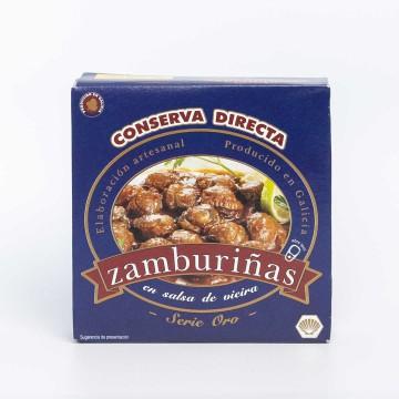 Zamburiñas en salsa de vieiras