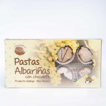 Pastas albariñas con chocolate